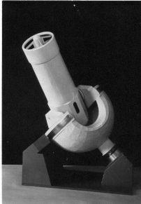 Макет шестиметрового телескопа (вариант). Идея монтировки— Ю.С.Стрелецкий, исполнение— Г.Ильин (1959)