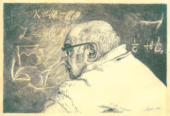 Яков Борисович Зельдович. Рис. В. Липунова. 1979 год