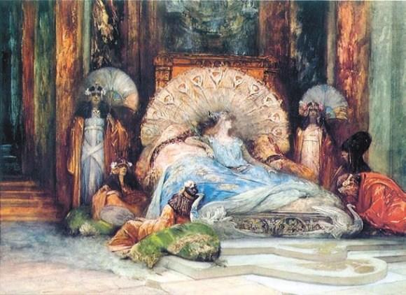 Императрица Феодора в VI веке прошла путь от гетеры до святой. Спустя 14 столетий ее сыграла Сара Бернар (рисунок Джорджа Кларина, 1902 год)