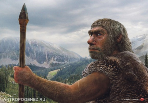 Реконструкция неандертальца, автор Роман Евсеев