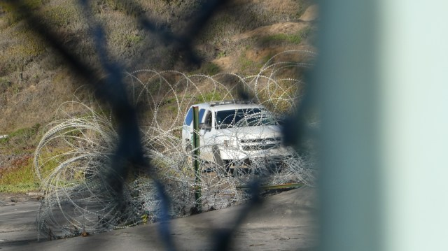 USA Border patrol vehicle on the lookout