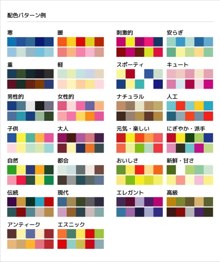 配色パターン例