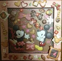 ミッキーマウス&ミニーマウスのクラフトアートを作ろう!