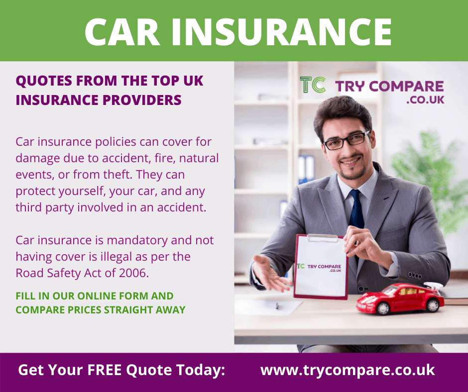 Try compare cheap car insurance quotes from UK providers
