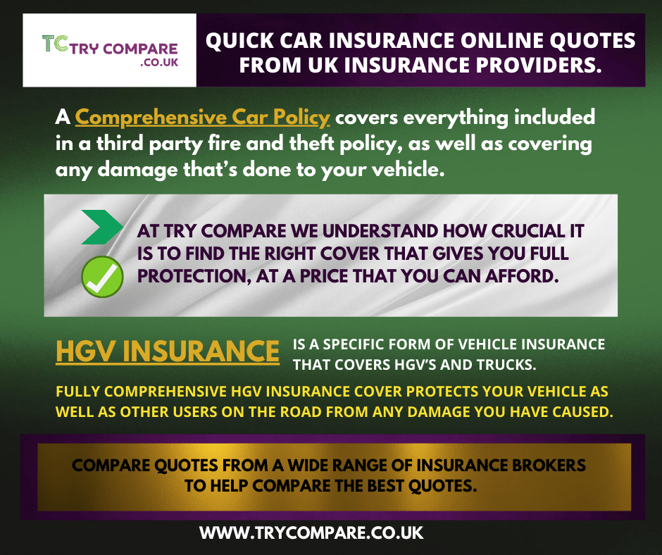 Comprehensive insurance policies that protect your vehicle