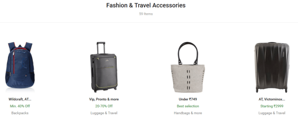 Flipkart fashion accessories deals online