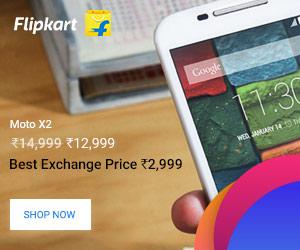 Motorola X2 Smartphone on Flipkart
