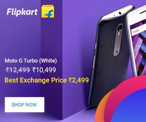 Moto G Turbo Smartphone on FlipKart