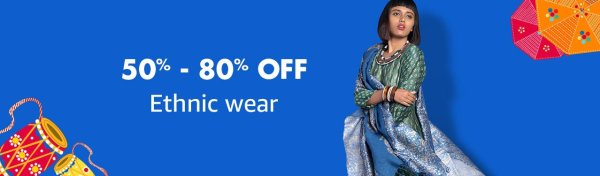 Sarees, kurti, ethnic wear sale amazon