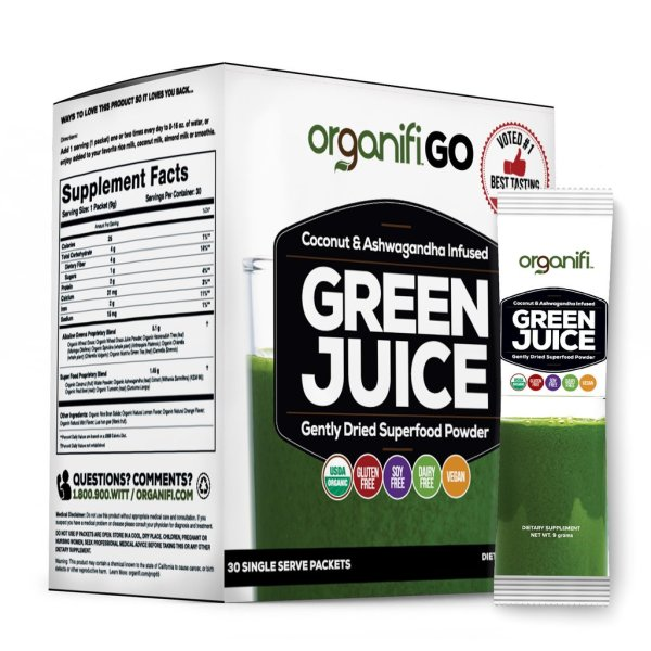 Organifi green juices and super foods 50% off