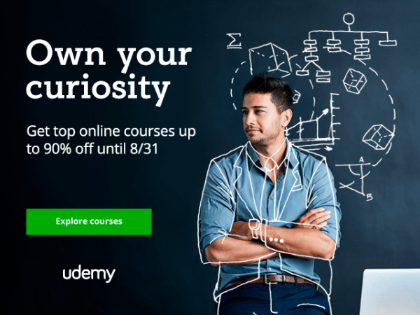 All udemy courses for $10 till 31st of August