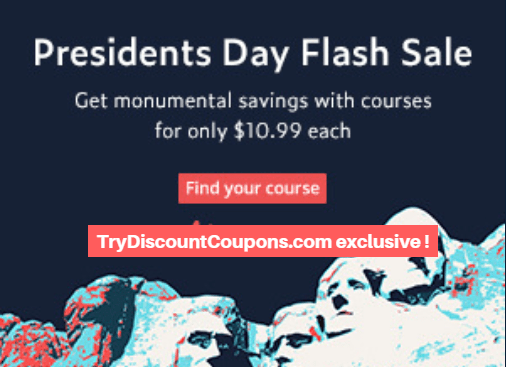 Exclusive presidents day flash sale udemy