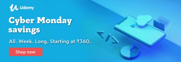 udemy Rs. 360 offer black friday 2019