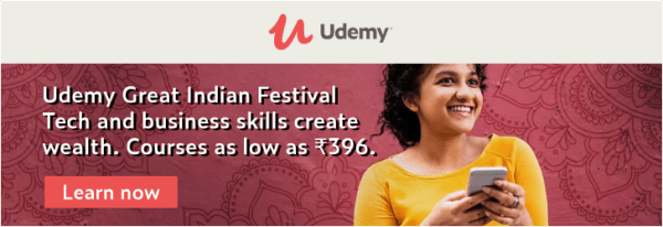 Udemy great Indian festival 2019