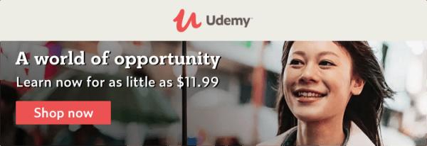 udemy sale $11.99 courses