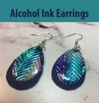 Make Earrings with Alcohol Ink on Metal