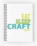 Eat Sleep Craft Free SVG