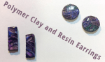 Polymer Clay and UV Resin Earrings