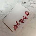 Rose Lined Card