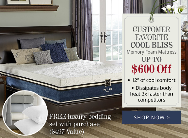 Try Any Mattress of Your Choice RISK-FREE @ Home W/ Free Delivery Cool_Bliss_Memory_Foam_Mattress PlushBeds Review ($1,110 off)