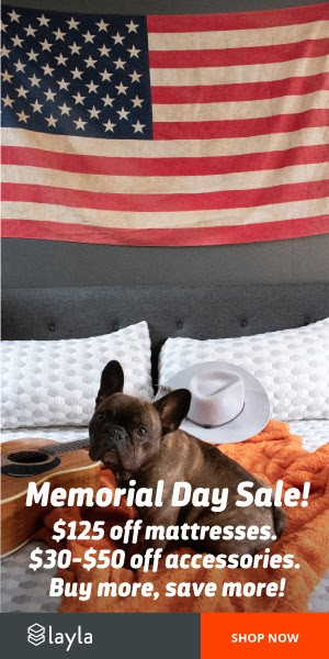 Try Any Mattress of Your Choice RISK-FREE @ Your Home W/ Free Delivery memorial-day-sale Layla ($125 off + 2 free pillows)