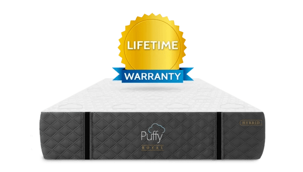 Try Any Mattress of Your Choice RISK-FREE @ Home W/ Free Delivery lifetime_warranty-royal-hybrid_600x Puffy Royal Hybrid Mattress ($300 off + free pillow -  Winter Sale)