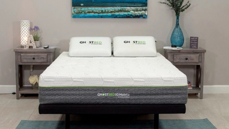 Try Any Mattress of Your Choice RISK-FREE @ Home W/ Free Delivery ghostbed-3D-MATRIX GhostBed Mattress Comparison (27% Off + 2 Free Pillows)