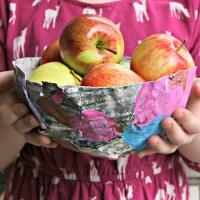 Papier-mâché balloon bowls