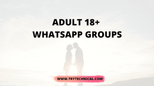 Adult 18+ WhatsApp Groups