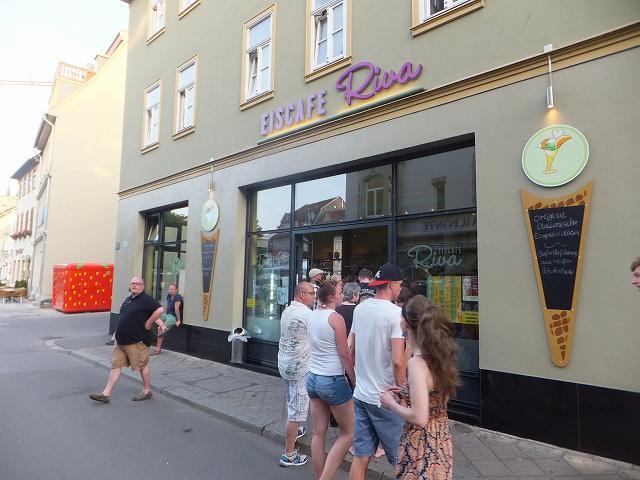 エアフルトで有名なアイスクリーム屋さん