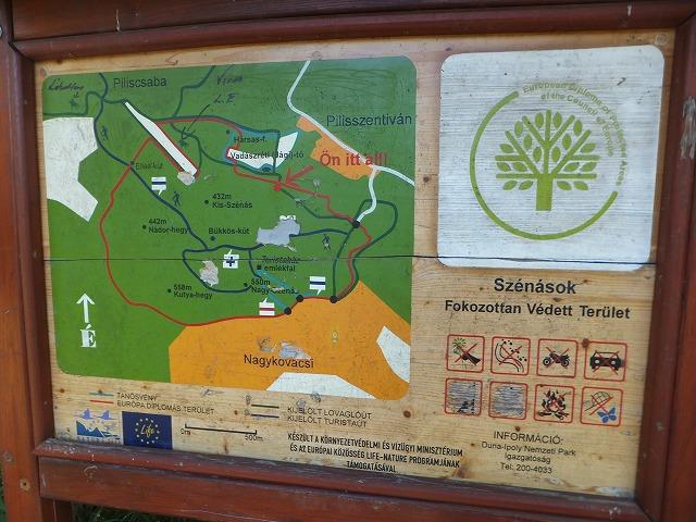 Szentivanにある裏山の地図・・・読めない