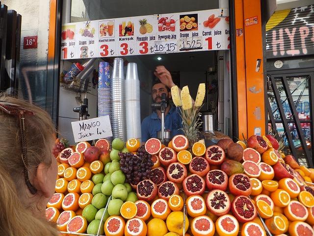 トルコ フルーツジュース!