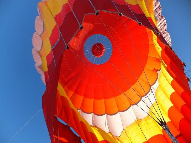 気球の上の部分に空洞を作り、熱を逃がす・・・ナルホド