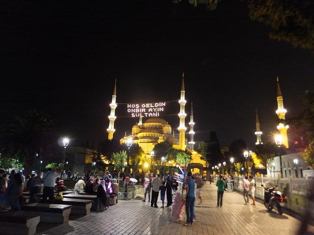 ラマダンの夜のスルタンアフメット、ブルーモスク