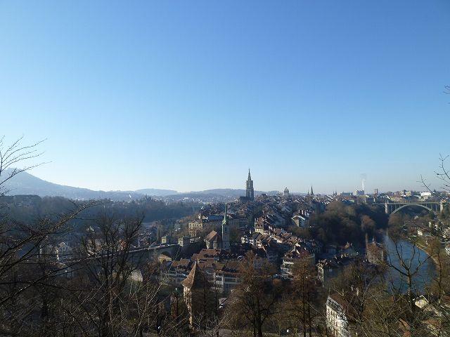 ローズガーデン(バラ公園)から眺めるベルン旧市街(冬)