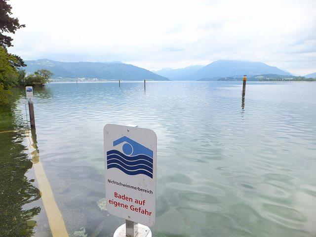水泳禁止?OK?:スイスの標識