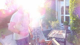 家のお庭でバーベキュー:ドイツ