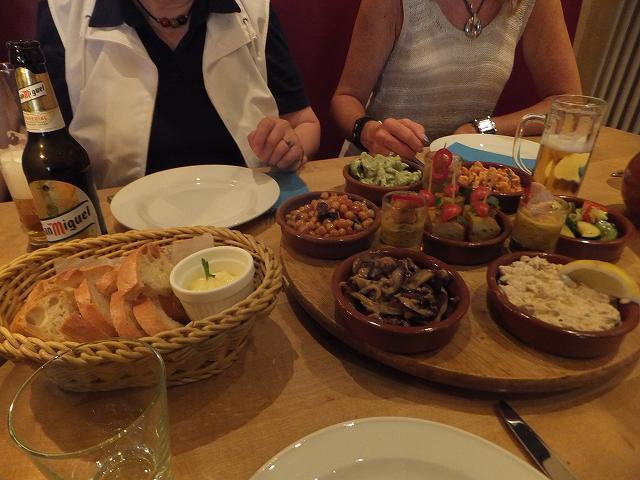 スペイン料理:タパス:ブレーメンにて