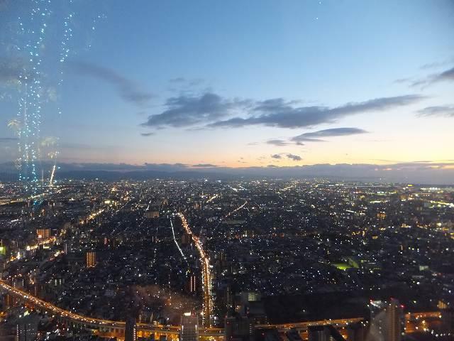 あべのハルカス展望台の夜景