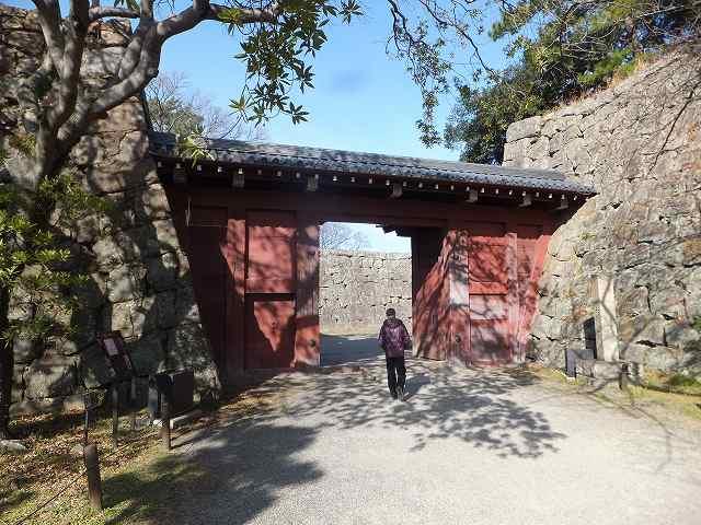 和歌山城へ続く門:追廻門