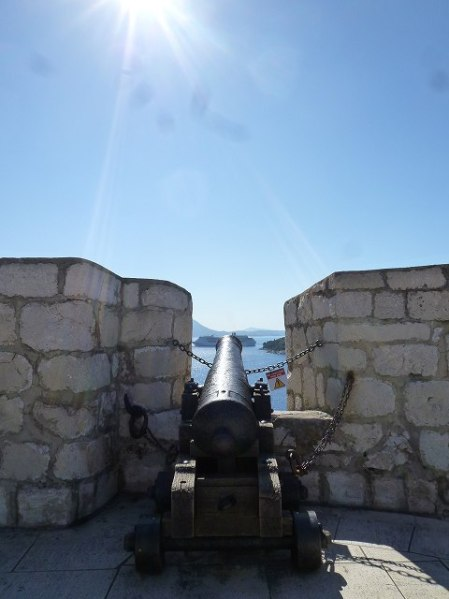 ドブロブニク城壁についていた砲台!