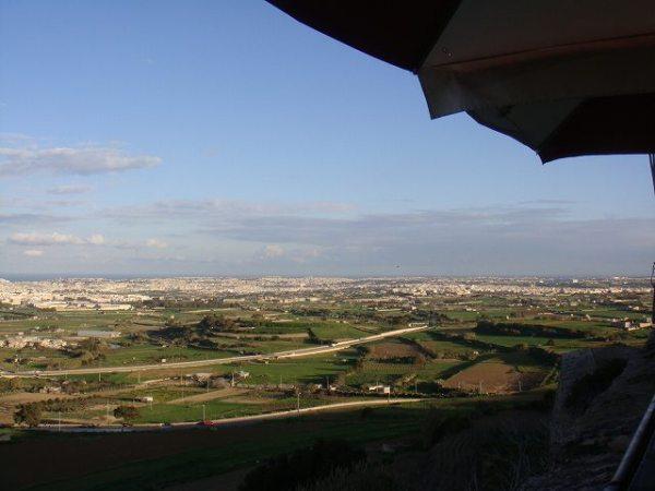 イムディーナから見るマルタの景色