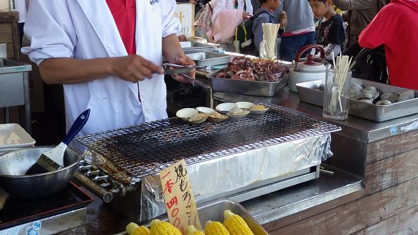 江の島の露店で食べた大アサリ