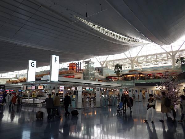 羽田空港国際線ターミナル、上には何やら…
