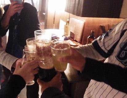 横浜DeNAのハマスタ勝利を祝って…