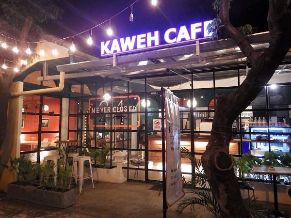 KAWEH CAFE:24時間早朝深夜も空いているカフェinチェンマイ