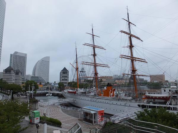 横浜:桜木町、みなとみらいの景色