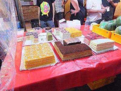 ケーキ:マラッカ:ジョンカーストリートのナイトマーケット