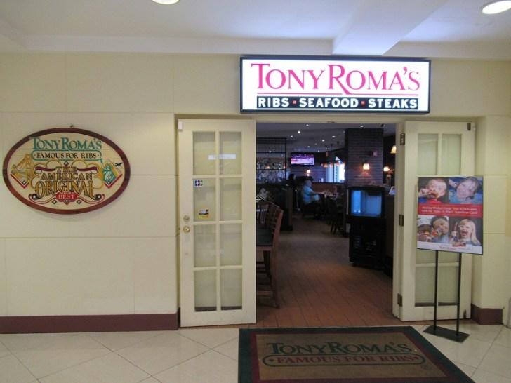 リブ肉・ステーキで有名なTONYROMAS:アガニャショッピングセンター店