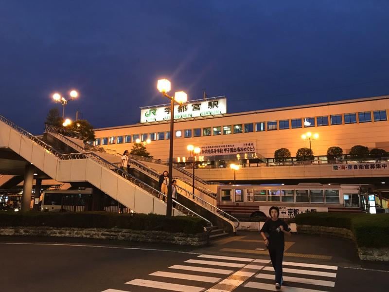 JR宇都宮駅!バイクでやってきました!